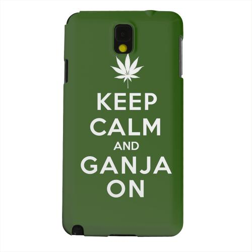 Geeks Designer Line (GDL) Samsung Galaxy Note 3 Matte Hard Back Cover - Green Ganja On