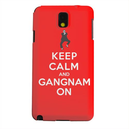 Geeks Designer Line (GDL) Samsung Galaxy Note 3 Matte Hard Back Cover - Red Gangnam On