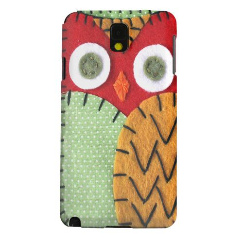 Geeks Designer Line (GDL) Samsung Galaxy Note 3 Matte Hard Back Cover - Red/ Orange Owl