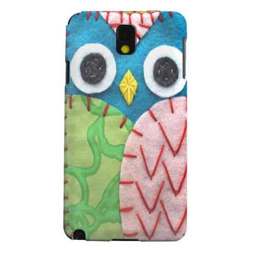 Geeks Designer Line (GDL) Samsung Galaxy Note 3 Matte Hard Back Cover - Blue/ Green Owl