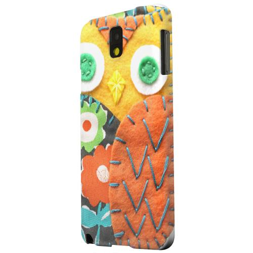 Geeks Designer Line (GDL) Samsung Galaxy Note 3 Matte Hard Back Cover - Yellow/ Orange Owl
