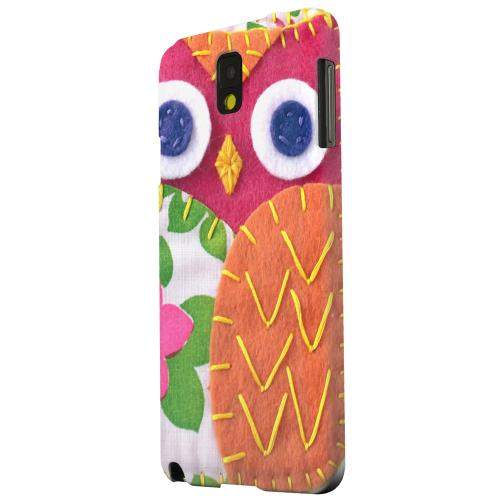 Geeks Designer Line (GDL) Samsung Galaxy Note 3 Matte Hard Back Cover - Hot Pink/ Green Owl