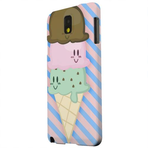Geeks Designer Line (GDL) Samsung Galaxy Note 3 Matte Hard Back Cover - Triple Scoop Ice Cream Cone