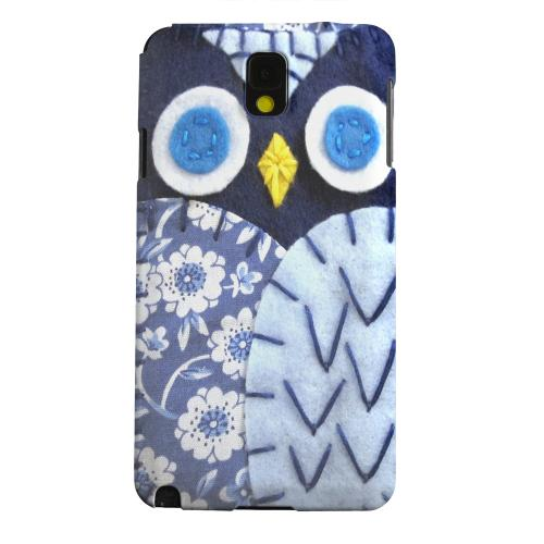 Geeks Designer Line (GDL) Samsung Galaxy Note 3 Matte Hard Back Cover - Night Blue Owl