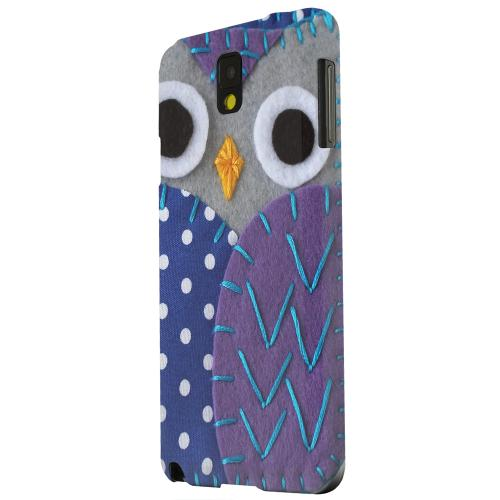 Geeks Designer Line (GDL) Samsung Galaxy Note 3 Matte Hard Back Cover - Gray/ Purple Owl