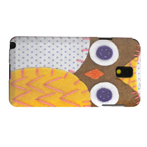 Geeks Designer Line (GDL) Samsung Galaxy Note 3 Matte Hard Back Cover - Brown/ Orange Owl