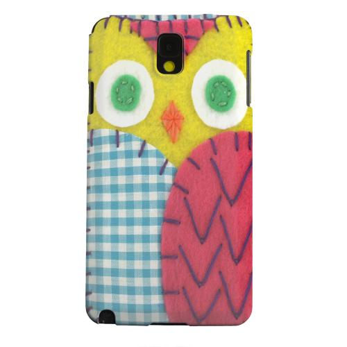 Geeks Designer Line (GDL) Samsung Galaxy Note 3 Matte Hard Back Cover - Yellow/ Maroon Owl