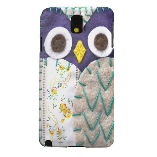 Geeks Designer Line (GDL) Samsung Galaxy Note 3 Matte Hard Back Cover - Blue/ Gray Owl