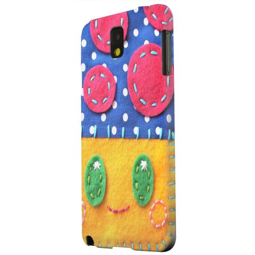 Geeks Designer Line (GDL) Samsung Galaxy Note 3 Matte Hard Back Cover - Blue/ Yellow Mushroom