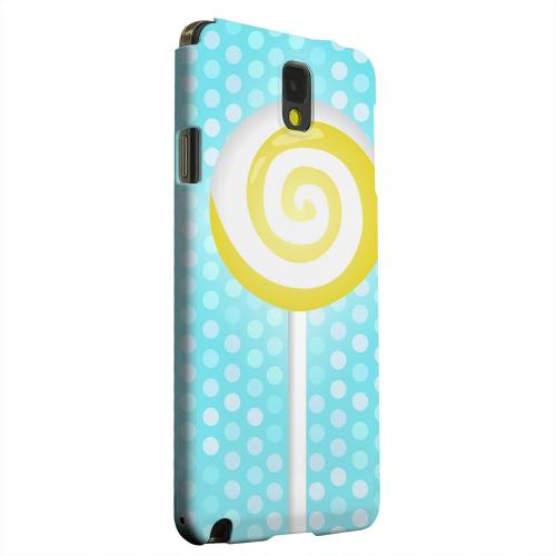 Geeks Designer Line (GDL) Samsung Galaxy Note 3 Matte Hard Back Cover - Yellow Lollipop