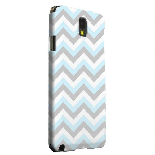 Geeks Designer Line (GDL) Samsung Galaxy Note 3 Matte Hard Back Cover - Blue on Gray on White