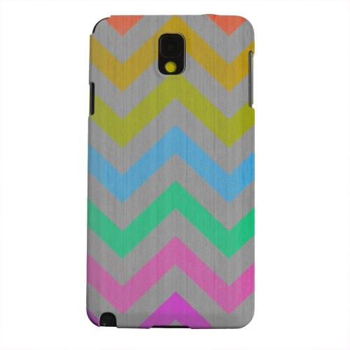 Geeks Designer Line (GDL) Samsung Galaxy Note 3 Matte Hard Back Cover - Grungy Multi-Colors on Gray