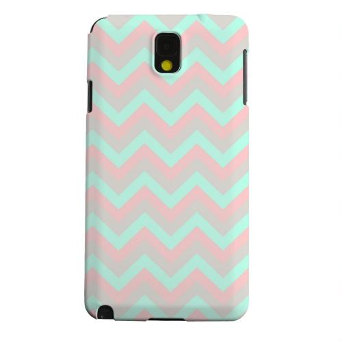 Geeks Designer Line (GDL) Samsung Galaxy Note 3 Matte Hard Back Cover - Green on Pink on Gray