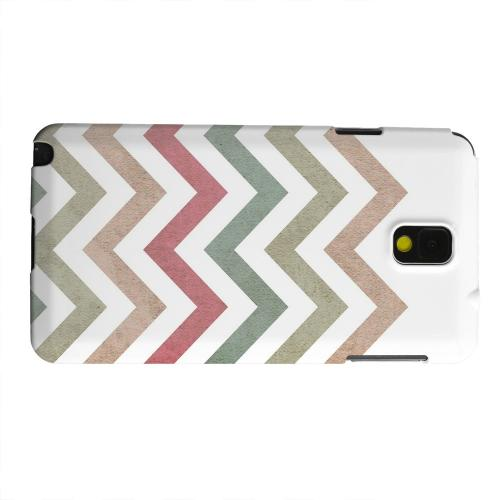 Geeks Designer Line (GDL) Samsung Galaxy Note 3 Matte Hard Back Cover - Grungy Green/ Red on White