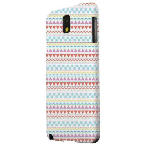 Geeks Designer Line (GDL) Samsung Galaxy Note 3 Matte Hard Back Cover - Multi-Shapes & Colors on White