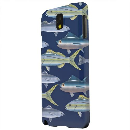 Geeks Designer Line (GDL) Samsung Galaxy Note 3 Matte Hard Back Cover - Assorted Fish in the Sea