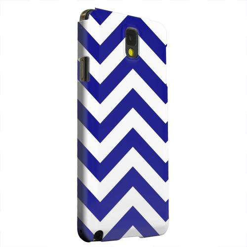 Geeks Designer Line (GDL) Samsung Galaxy Note 3 Matte Hard Back Cover - Navy Blue on White