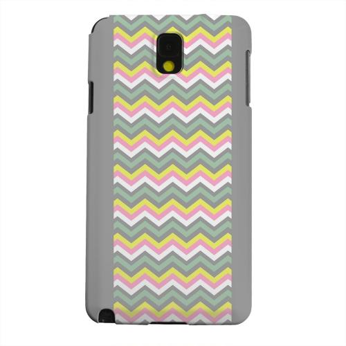 Geeks Designer Line (GDL) Samsung Galaxy Note 3 Matte Hard Back Cover - Pink/ Yellow/ Gray/ Green