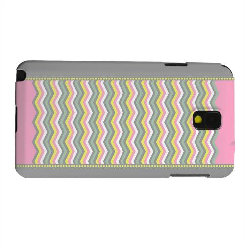 Geeks Designer Line (GDL) Samsung Galaxy Note 3 Matte Hard Back Cover - Green/ Yellow Dots w/ Pink & Gray