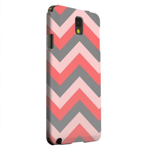 Geeks Designer Line (GDL) Samsung Galaxy Note 3 Matte Hard Back Cover - Red on Gray on Pink