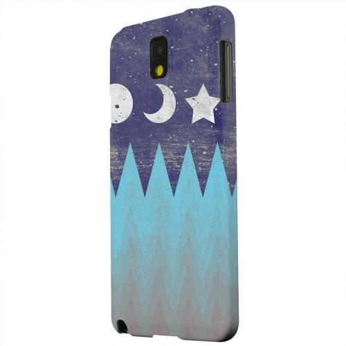 Geeks Designer Line (GDL) Samsung Galaxy Note 3 Matte Hard Back Cover - Sun Moon Star