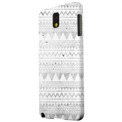 Geeks Designer Line (GDL) Samsung Galaxy Note 3 Matte Hard Back Cover - Grungy Triangles