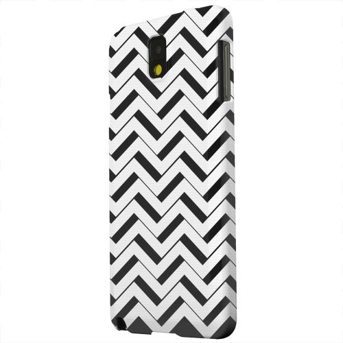 Geeks Designer Line (GDL) Samsung Galaxy Note 3 Matte Hard Back Cover - Black/ White 3D