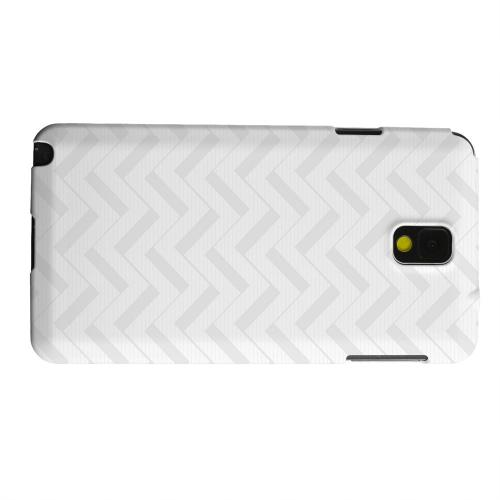 Geeks Designer Line (GDL) Samsung Galaxy Note 3 Matte Hard Back Cover - Light Gray/ White 3D