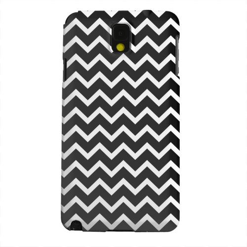 Geeks Designer Line (GDL) Samsung Galaxy Note 3 Matte Hard Back Cover - White on Black