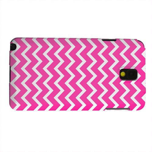 Geeks Designer Line (GDL) Samsung Galaxy Note 3 Matte Hard Back Cover - White on Hot Pink