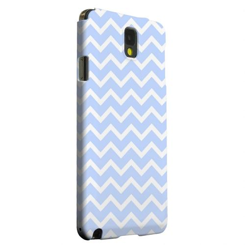 Geeks Designer Line (GDL) Samsung Galaxy Note 3 Matte Hard Back Cover - White on Light Blue