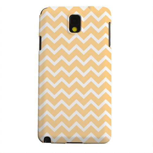 Geeks Designer Line (GDL) Samsung Galaxy Note 3 Matte Hard Back Cover - White on Light Orange