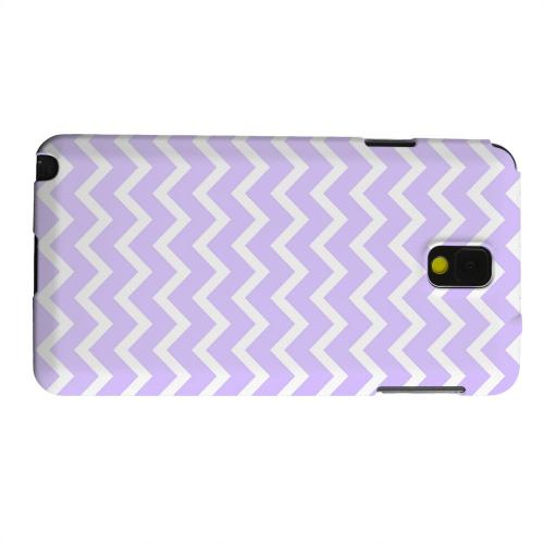 Geeks Designer Line (GDL) Samsung Galaxy Note 3 Matte Hard Back Cover - White on Light Purple