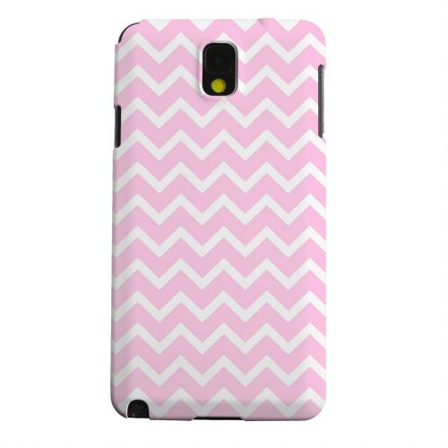 Geeks Designer Line (GDL) Samsung Galaxy Note 3 Matte Hard Back Cover - White on Pink