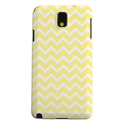 Geeks Designer Line (GDL) Samsung Galaxy Note 3 Matte Hard Back Cover - White on Yellow