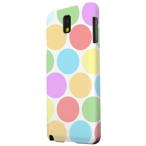 Geeks Designer Line (GDL) Samsung Galaxy Note 3 Matte Hard Back Cover - Big & Rainbow on White