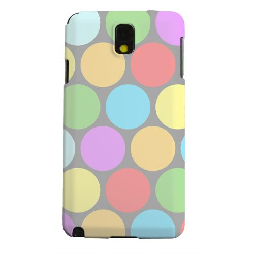 Geeks Designer Line (GDL) Samsung Galaxy Note 3 Matte Hard Back Cover - Big & Rainbow on Gray