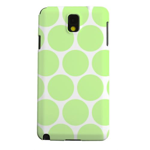 Geeks Designer Line (GDL) Samsung Galaxy Note 3 Matte Hard Back Cover - Big & Lime Green