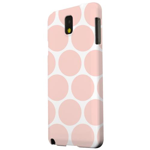 Geeks Designer Line (GDL) Samsung Galaxy Note 3 Matte Hard Back Cover - Big & Baby Pink