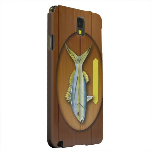 Geeks Designer Line (GDL) Samsung Galaxy Note 3 Matte Hard Back Cover - Fish Trophy