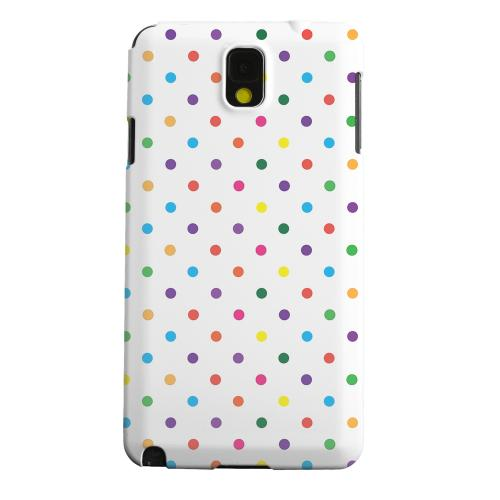Geeks Designer Line (GDL) Samsung Galaxy Note 3 Matte Hard Back Cover - Small & Rainbow on White