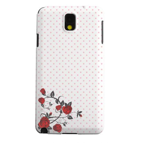 Geeks Designer Line (GDL) Samsung Galaxy Note 3 Matte Hard Back Cover - Rose Vine