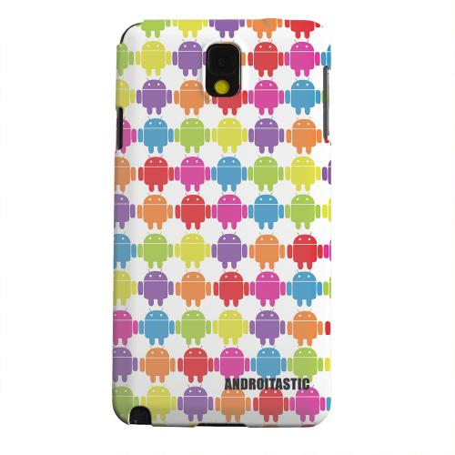 Geeks Designer Line (GDL) Samsung Galaxy Note 3 Matte Hard Back Cover - Rainbow Robot Army Design