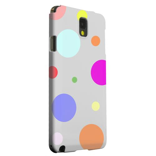 Geeks Designer Line (GDL) Samsung Galaxy Note 3 Matte Hard Back Cover - Random & Rainbow on Gray