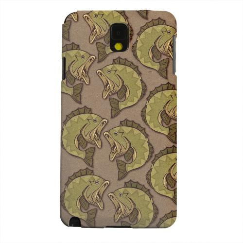Geeks Designer Line (GDL) Samsung Galaxy Note 3 Matte Hard Back Cover - Large Mouth Bass Design