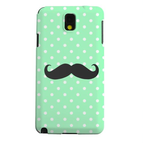 Geeks Designer Line (GDL) Samsung Galaxy Note 3 Matte Hard Back Cover - Stache on Mint