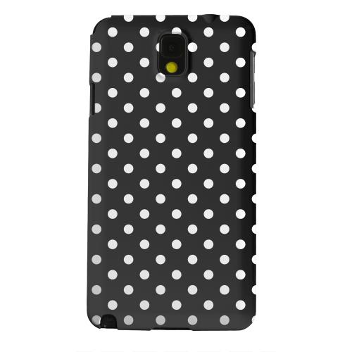 Geeks Designer Line (GDL) Samsung Galaxy Note 3 Matte Hard Back Cover - White Dots on Black