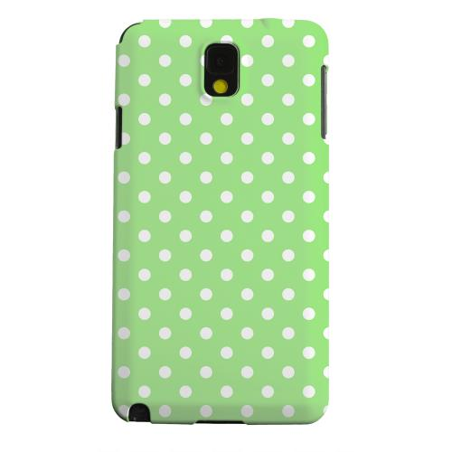 Geeks Designer Line (GDL) Samsung Galaxy Note 3 Matte Hard Back Cover - White Dots on Green
