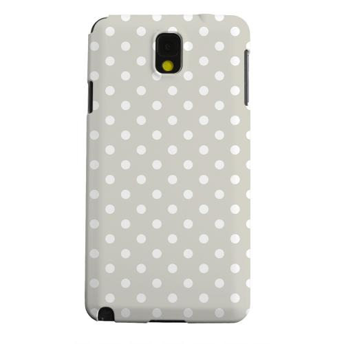 Geeks Designer Line (GDL) Samsung Galaxy Note 3 Matte Hard Back Cover - White Dots on Khaki