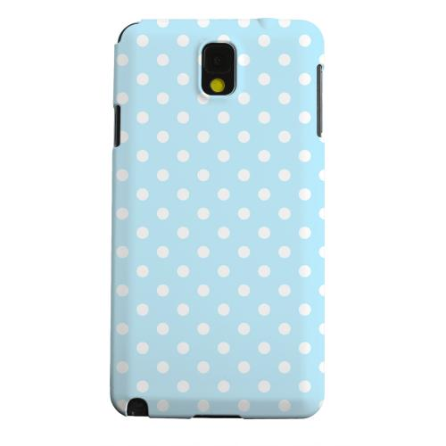 Geeks Designer Line (GDL) Samsung Galaxy Note 3 Matte Hard Back Cover - White Dots on Sky Blue